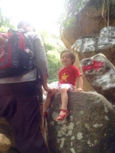 Climbing to the Waterfall